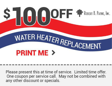 100 off wather heater replacement